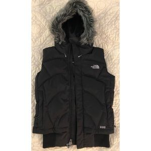 North Face Down Vest Hood Fur - Prodigy 600, small